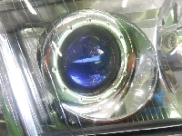 アウディ/A4/純正/右ヘッドライト/後付HID付き