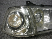 E36/BMW・328i/HELLA製・右ヘッドライト&社外クリアランス/ジャンク品