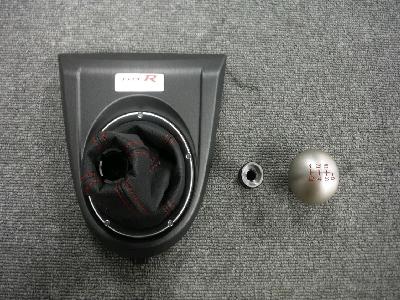 FN2・シビックタイプR/純正シフトノブ&シフトブーツ(パネル付き)セット