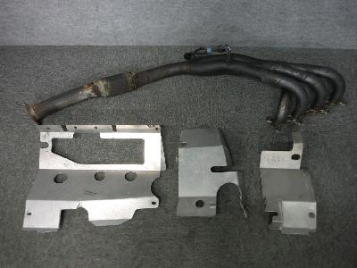 NA8C・ロードスター/社外・エキマニ&遮熱板セット